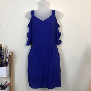 Lush cut out royal blue dress